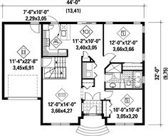 First Floor Plan of House Plan 52525
