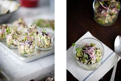 dying to make this crab, apple & avocado verrine from sunday suppers