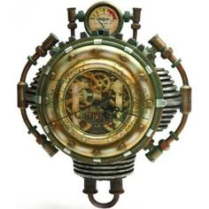 Could be just me but at first glance I thought this was a robot toy and immediately thought what a great shape/design for a robot costume. It is a steam punk clock. However I could see this done as a steampunk robot costume.