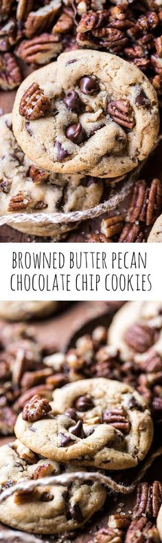Browned Butter Pecan Chocolate Chip Cookies   halfbakedharvest.com @hbharvest