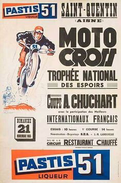 Motorcross Trophee National Poster