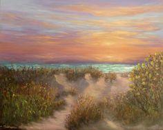 Beautiful painting sunrise over the sea