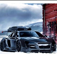 Audi r8 blacked out ski edition. Keep your car mess-free with CoolKarStuff  trunk organizer, available on http://www.amazon.com/Organizer-Foldable-Softsided-Collapsible-Organizer/dp/B00EARP1JO.