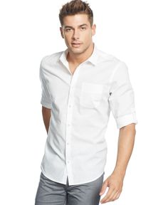 Inc International Concepts Denoia Long-Sleeve Shirt, Only at Macy's