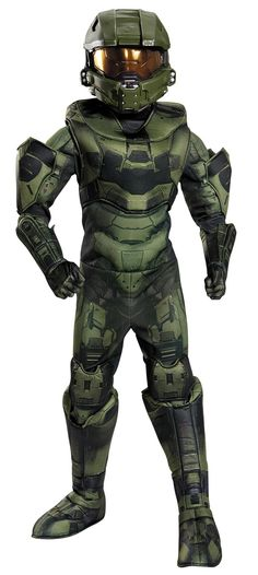 If you know any child who plays video games they know Halo. Halo is a military science fiction first-person shooter video game franchise managed and ...  sc 1 st  Pinterest & Kidsu0027 Costume Accessories - Disguise Master Chief Deluxe Child ...