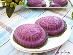 Aunty Young(安迪漾): 紫薯芋泥红龟糕 (Purple Sweet Potato Ang Ku Kuih with Yam ...