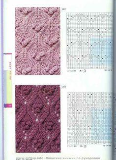 "Photo from album ""Неразобранное в Knitting Pattrens Book on Yandex. Baby Knitting Patterns, Knitting Stiches, Cable Knitting, Knitting Charts, Vintage Knitting, Knitting Designs, Crochet Stitches, Stitch Patterns, Crochet Patterns"