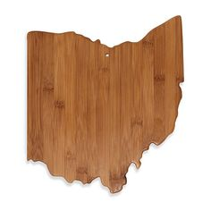 Totally Bamboo Ohio State Shaped Cutting/Serving Board - BedBathandBeyond.com