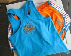 monogramed workout clothes
