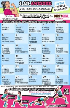 I Am Awesome 30 Day Fitness Challenges ⋆ Sweat Like A Girl, Lehigh Valley Women's Fitness - I Am Awesome 30 Day Fitness Challenge