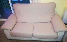 """Funda de sofá 2 plazas con asientos extensibles a medida 5 rectángulos que se cosen y adaptan por piezas y sobre el sofa, siguiéndo las instrucciones del canal de Youtube de """"María Hernandez mis cositas"""""""