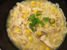 Easy chicken & corn noodle soup |