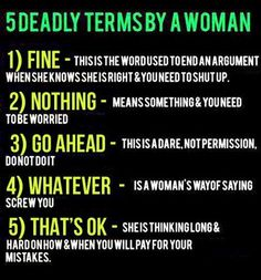 Every husband/boyfriend should have this memorized...LOL