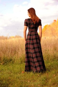 Channeling Vivienne Westwood.  Love that its flannel.  Unexpected.  the Amandine by ducieldesigns on Etsy, $290.00