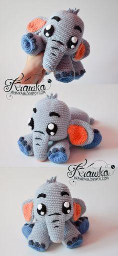 Krawka: blue Elephant Echo crochet pattern: https://www.etsy.com/listing/482971793/crochet-pattern-grey-elephant-echo-by?ref=shop_home_active_1