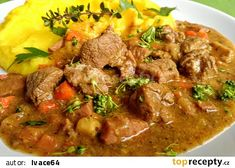 Vepřové ragů na kořenové zelenině, pórku a brokolici recept - TopRecepty.cz Thai Red Curry, Food Porn, Food And Drink, Beef, Treats, Ethnic Recipes, Food Ideas, Nova, Fitness