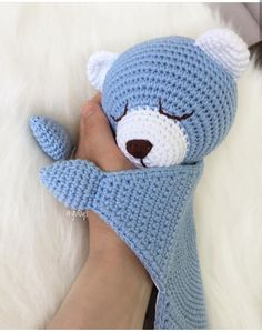 Crochet Santa, Crochet Baby Toys, Crochet Bunny, Baby Knitting Patterns, Amigurumi Patterns, Baby Patterns, Crochet Patterns, Baby Comforter, Crochet Projects