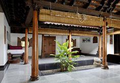 interior design of daylight courtyard in Kerala b Photograph - interior design of daylight courtyard in Kerala b Fine Art Print