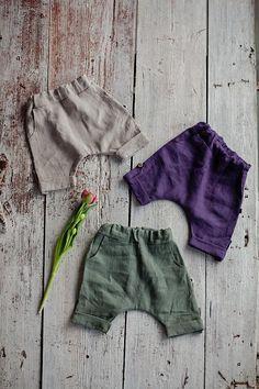Linen baby pants, harem pant, linen kids clothes, organic linen