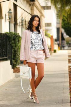 Summer Suit + Floral Print Crop Top