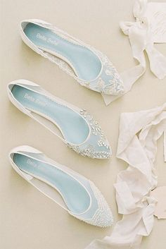 something blue flat wedding shoes for 2018 #weddingshoes