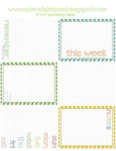 freebie: journaling cards for Project Life http://splendidmissm.blogspot.com/search/label/Project%20Life #scrapbooking #journaling