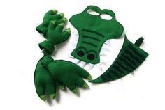 Alligator Costume, Mask, Tail, Claws And Feet, Crocodile Costume, Dress Up