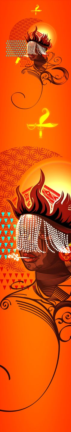 Oyá - Wind of Change by Gui Soares, via Behance African American Art, African Art, Orishas Yoruba, Light Tattoo, Wind Of Change, Afro Art, African Design, Sacred Art, Look In The Mirror