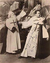 """Enrico Caruso e Rosa Ponselle, dois ícones do início do século XX, em cena de """"La Forza del Destino"""""""