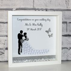 Wedding Box Frame Wedding Gift Mr & Mrs Couples Gift