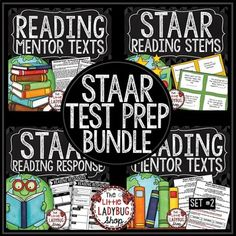 STAAR Review Reading PREP Bundle- 4 SETS INCLUDED! All of my BEST Selling STAAR Reading Materials have been combined into 1 ZIP File for you to purchase together at a lower price! I created this to work my 3rd and 4th grade students and remedial 5th graders in small group settings! Text used are Public Domain.