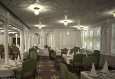 Plans for the first class dining saloon on board Titanic II call for it to be designed in the same Jacobean style as the original.  Titanic 2