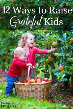 12 Ways to Raise Grateful Kids - Use these 12 tips to teach your children an attitude of gratitude for their family, life, and all that they have during the holiday season and beyond.