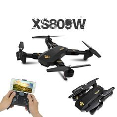 VISUO Mini Foldable Selfie Drone with Wifi FPV or Camera Hover Quadcopter Vs JJRC RC Dron Note: product is it has hover mode! are two different version of one version has wifi camera, you can buy them on first 6 six options; another version … Wi Fi, Selfies, Drone Model, Air Drone, Drone Diy, Foldable Drone, Pilot, Box Camera, Camera Selfie