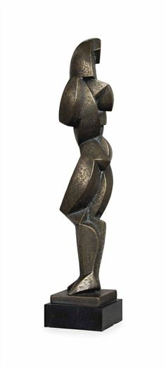 Jim E. Ritchie (Canadian, b. signed and numbered 'Ritchie (on the base) - bronze with gold patina. Cubist Sculpture, Sculpture Clay, Contemporary Sculpture, Contemporary Art, Supreme Art, Art Object, Art Techniques, Metal Art, Sculpting