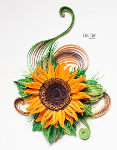 quilling sunflower