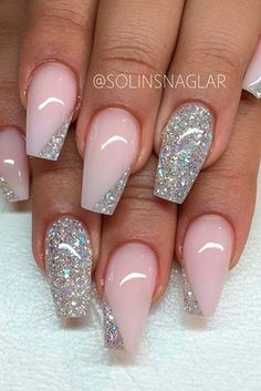 Wedding Nails Nail Design 50 Ideas for the Fashionable Bride Nageldesign Nail Art Nagellack Nail Polish Nailart Nails Wedding Nails For Bride, Bride Nails, Wedding Nails Design, Wedding Makeup, Nails For Brides, Bling Wedding Nails, Beach Wedding Nails, Polish Wedding, Wedding Manicure