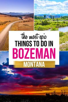 10 Epic Things to do in Bozeman, Montana. Montana, one of the least populated states in the USA has wide open valleys and rising mountains that really give credit to the Big Sky State. There are some things you simply must do to see the best that Bozeman Montana has to offer. | Bozeman activities | Bozeman travel | Montana itinerary | Montana Travel | #montana Usa Travel Guide, Travel Usa, Travel Guides, Travel Tips, Top Places To Travel, Places To Visit, Big Sky Montana, Bozeman Mt, Visit Usa