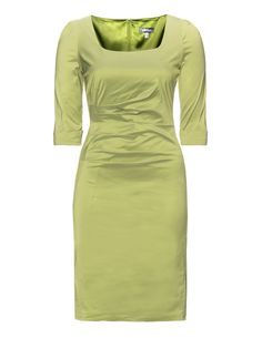 Weise  Draped shift dress in Light-Green from navabi (plus size)