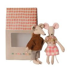 Maileg Mum & Dad Mice in a House