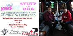 Holidays are about giving, and for the past few years, we have teamed up with 99.3 KISSFM in efforts to collect food to donate to the Central Pennsylvania Food Bank We are at it again this year with our annual Stuff-A-Bus initiative! Premiere's Party Bus is parked at Giant in Enola and we need your help in filling it with food! 99.3 KISSFM's Mike Miller is on the bus accepting donations today and tomorrow. Help us give back to the community for this holiday season. #StuffaBus #GivingBack