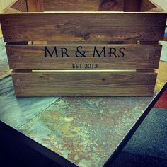 Rustic Personalised Wedding Crates by ULTsEtsyShop on Etsy, £35.00