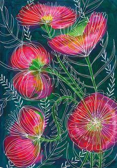 Always Flowers Archival Wall Art print floral illustration