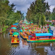 Embarcadero Nativitas, Xochimilco, Mexico City, Mexico - A World...