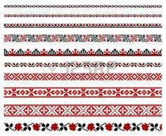 Vectors Illustration of Ukrainian embroidery ornament - Vector illustrations of. - Search Clipart, Illustration, Drawings, and EPS Clip Art Graphics Images Free Vector Illustration, Free Illustrations, Vector Art, Eps Vector, Cross Stitch Borders, Cross Stitch Designs, Cross Stitch Patterns, Ukrainian Tattoo, Ethno Style
