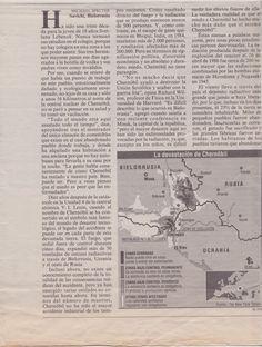 Diario EL PAÍS. Domingo 7 de abril de 1996. CHERNÓBIL - 10 años después de la catástrofe. Página 2 de 8.