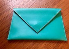 Baekgaard Vera Bradley Teal Pink Envelope Clutch by CraigOandAlice
