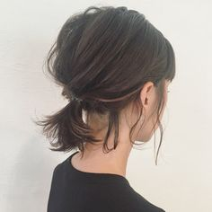 HAIR (Hair) is a hairdressing model that stylists . HAIR (Hair) is a Messy Hairstyles, Pretty Hairstyles, Ponytails For Short Hair, Messy Ponytail, Cute Short Hair Updos, Rainy Day Hairstyles, Pretty Short Hair, Bun Hair, Medium Hair Styles