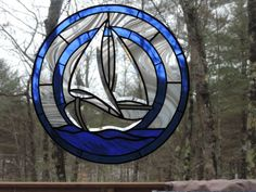 Stained Glass Sailboat with Bevels