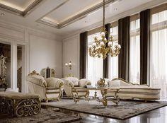 Classika mobili ~ Mobili per la zona giorno classica e di lusso in stile veneziano e
